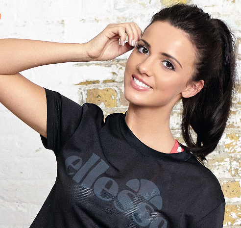 lucy meck styled for Ellesse shoot - very.co.uk