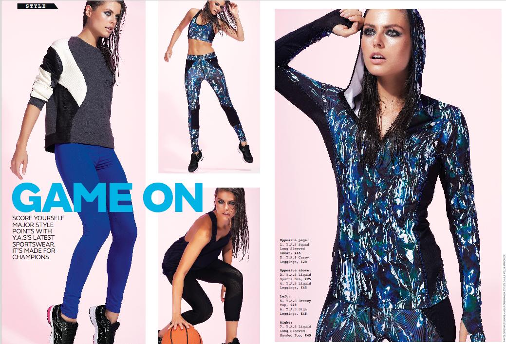 Styling for y.a.s sportswear shoot - very.co.uk
