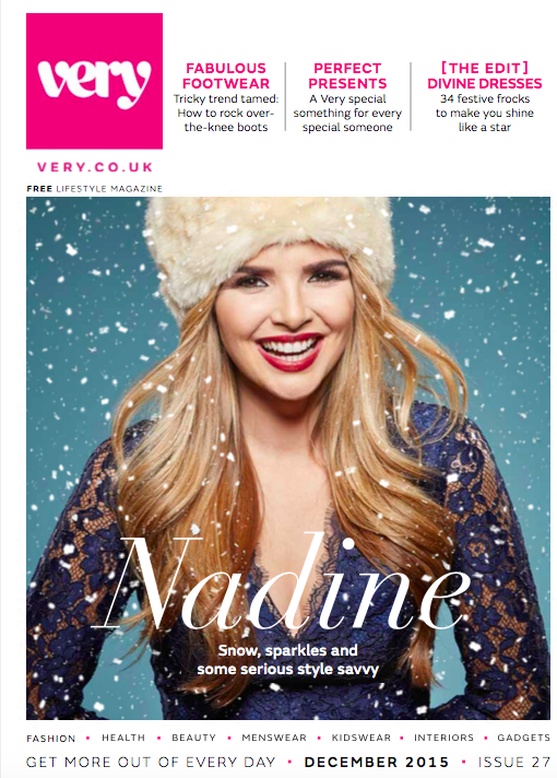 cover shoot with Nadine coyle - very.co.uk