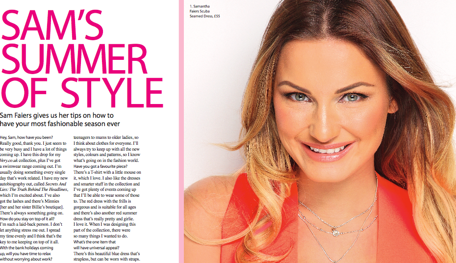 photoshoot with sam faiers - very.co.uk