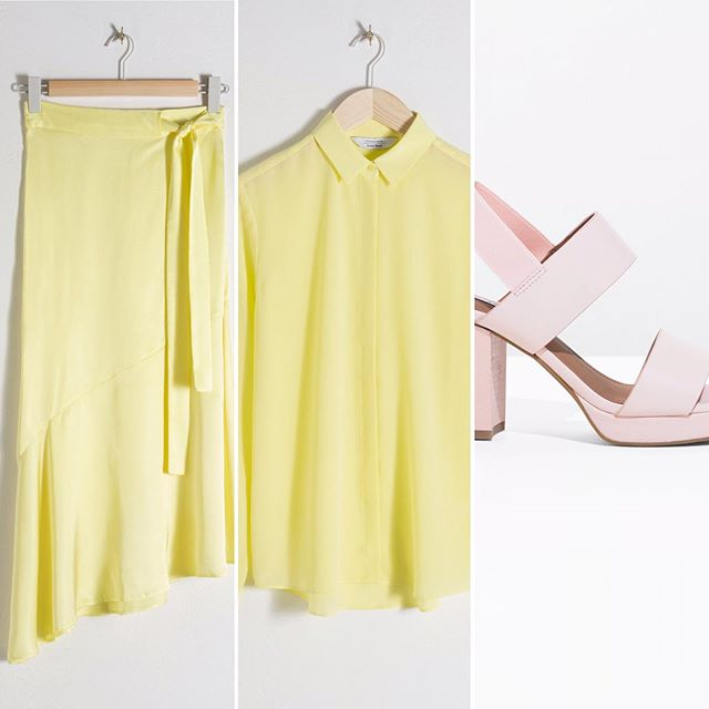 Continuing the sale theme this morning with this @andotherstories soft yellow duo ☀️ . . Tap stories for details... . . #planningoutfits #personalstylistsurrey #personalshoppingservice #silkandsatin #mellowyellow #dressandskirt