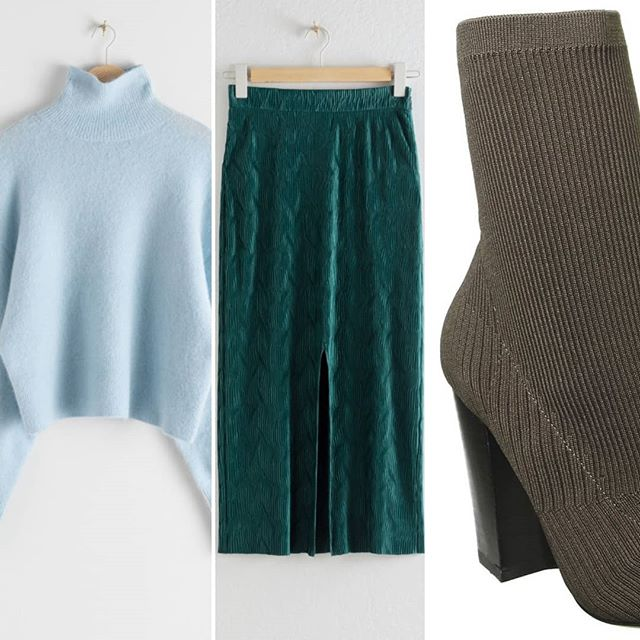 I am craving all the soft textures at the moment and this outfit hits the spot. These are the nicest sock boots I've seen recently and what's better than a wool (blend) turtleneck in the dreamiest blue... . #wrapmeup #softhues #autumnwardrobe #outfitplanning #whattoweartoday #personalshoppingservice #reigatestylist . Sweater and skirt @andotherstories  Boots @officeshoes