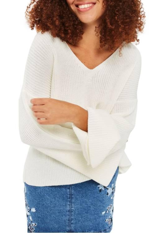 Topshop Lattice Back Sweater $65