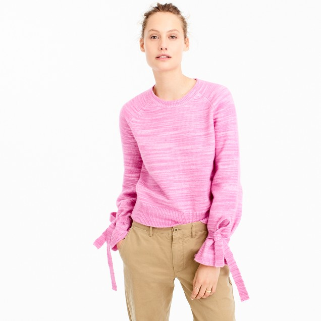 J.Crew Collection tie-sleeve sweater $148
