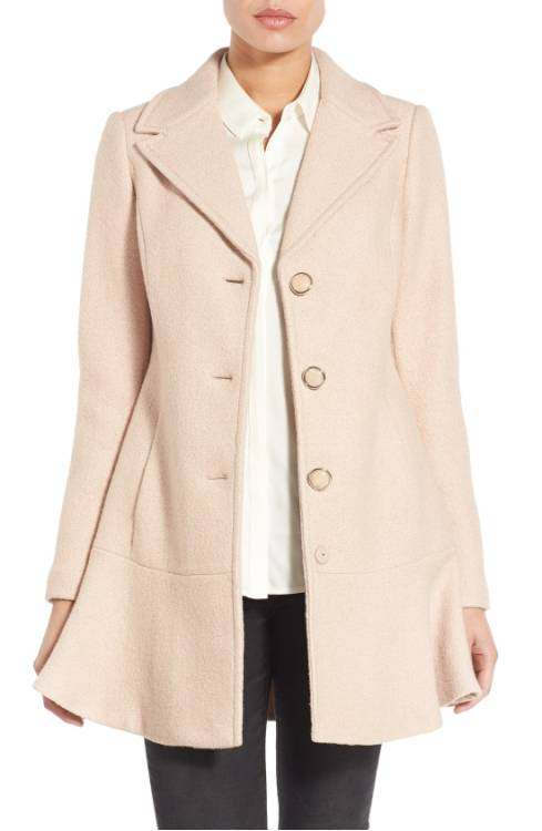 kenzie Notch Lapel Peplum Coat $149.90