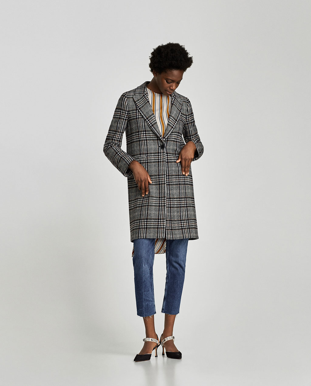 Zara Checked Coat $169