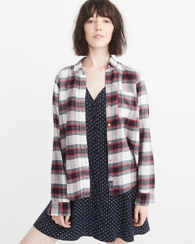 Abercrombie & Fitch Plaid Flannel Shirt $58