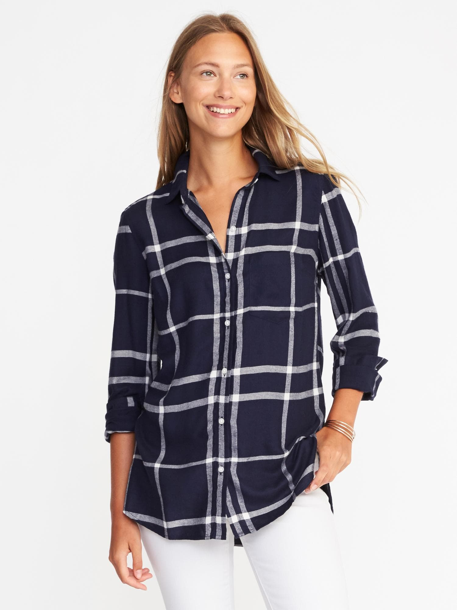 Old Navy Relaxed Plaid Shirt $29.99