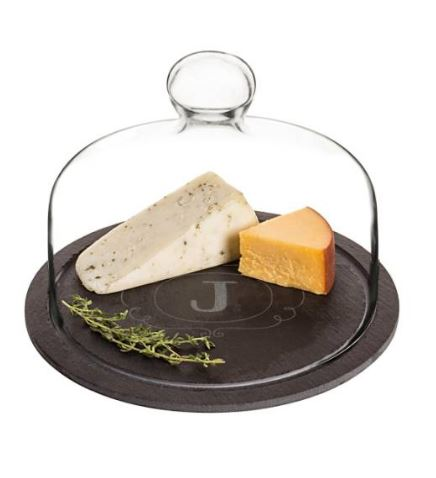 Cathy's Concepts Monogram Slate Tray & Glass Dome $58