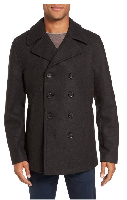 Michael Kors Wool Blend Double Breasted Peacoat $177