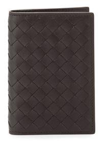 Bottega Veneta Fold-Over Leather Card Case $360