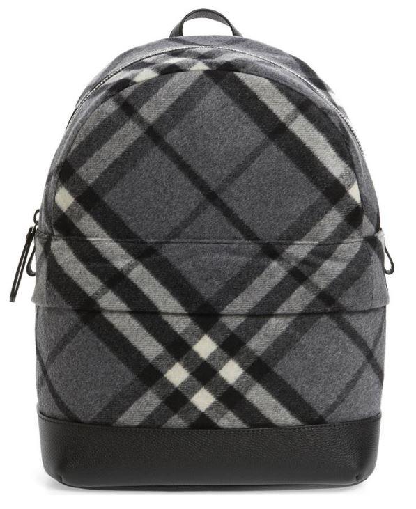 BURBERRY Nico Check Backpack $495