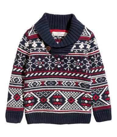 H&M Shawl-collar Sweater $18