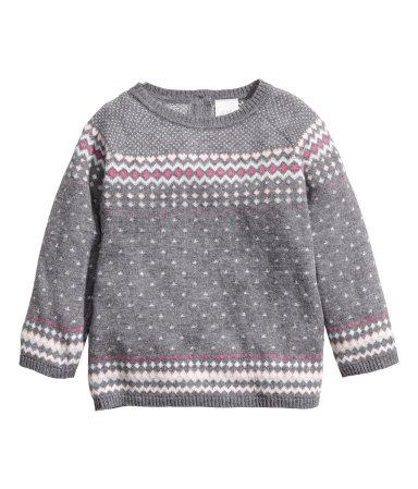 H&M Jacquard-knit Sweater $15