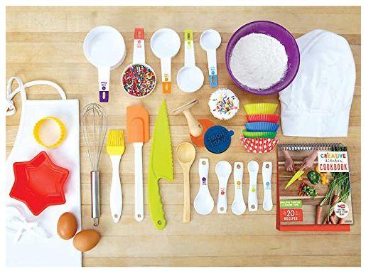 Junior Chef 35-Piece Dishwasher Safe Kitchen-Quality Child Safe Cooking Accessory Set $26