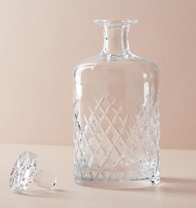 Anthropologie Soho Home Barwell Cut Crystal Large Decanter $150