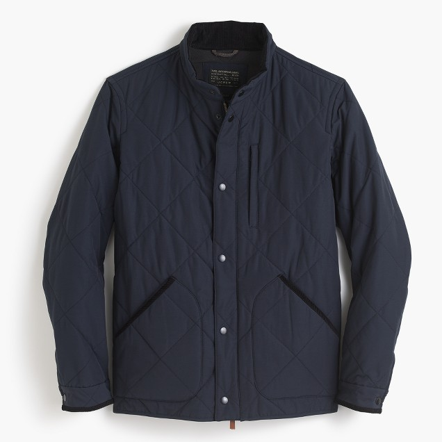 J. Crew Sussex quilted jacket $198  25% OFF FULL PRICE W/CODE CHACHING
