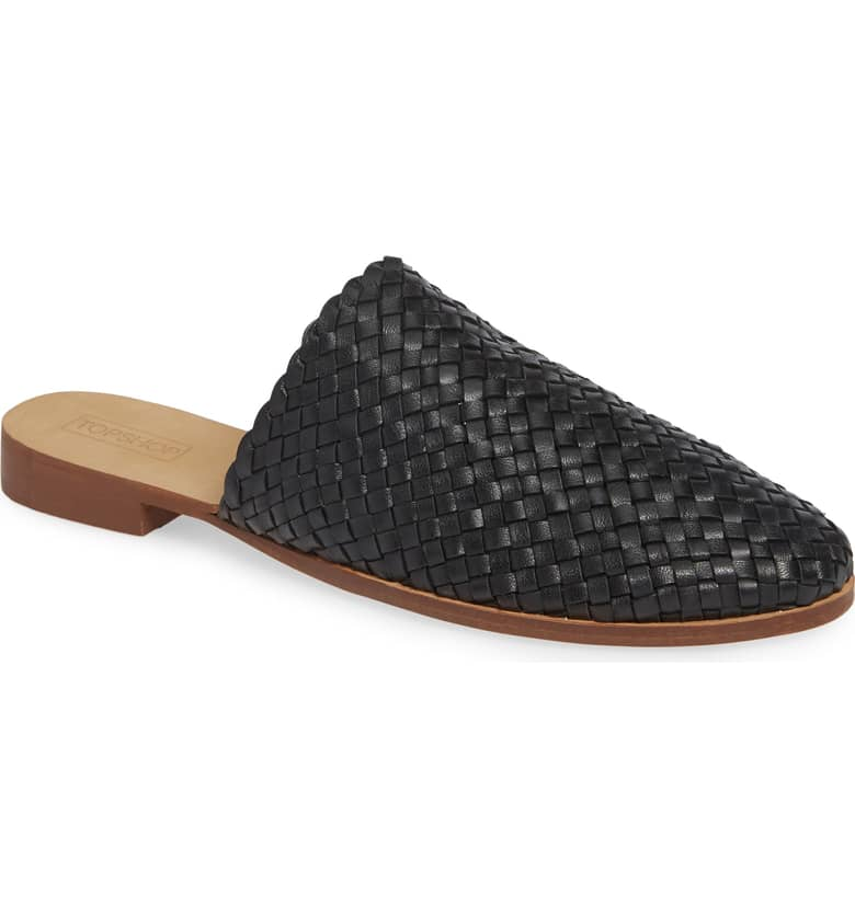 TOPSHOP Kane Woven Mule $85 (comes in 2 colors)