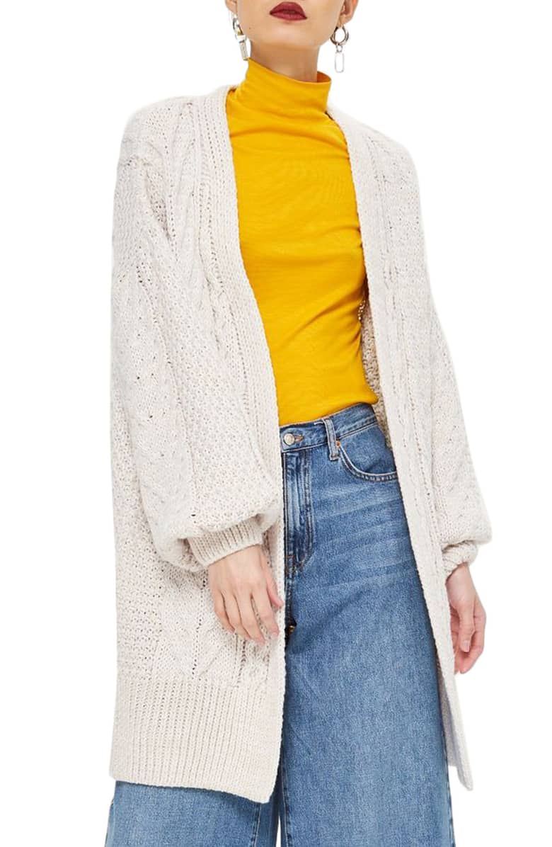 TOPSHOP Long Open Front Cardi $75 (comes in 5 colors)