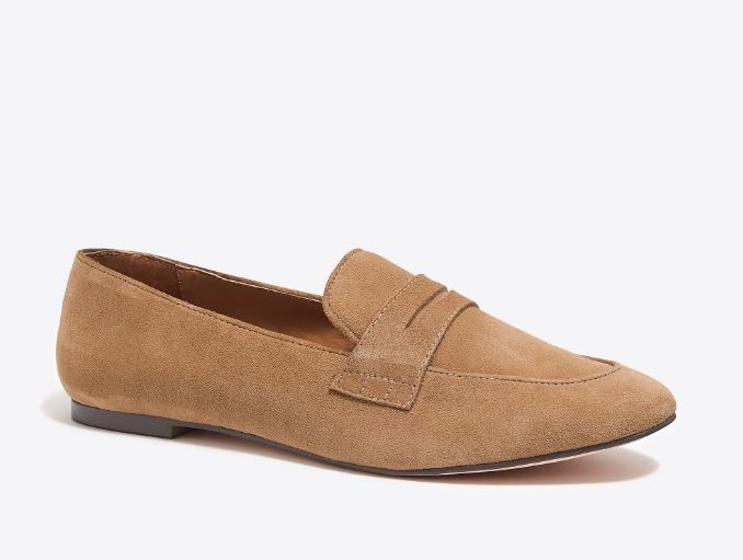 J.Crew Suede penny loafers $69
