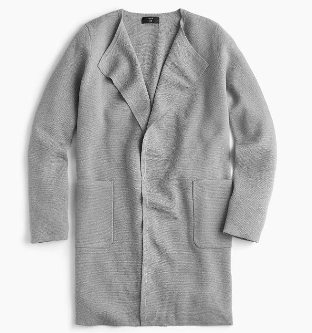 J. Crew Juliette collarless sweater-blazer $148