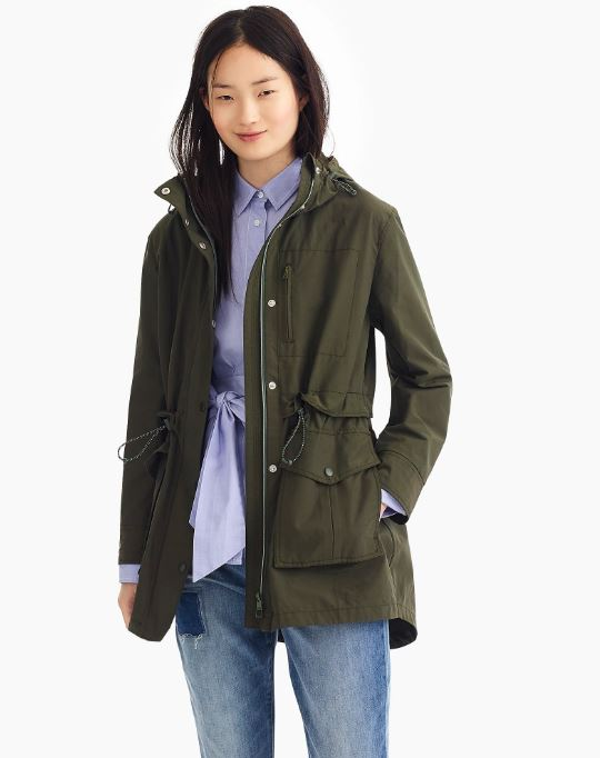 J.Crew Perfect rain jacket $120