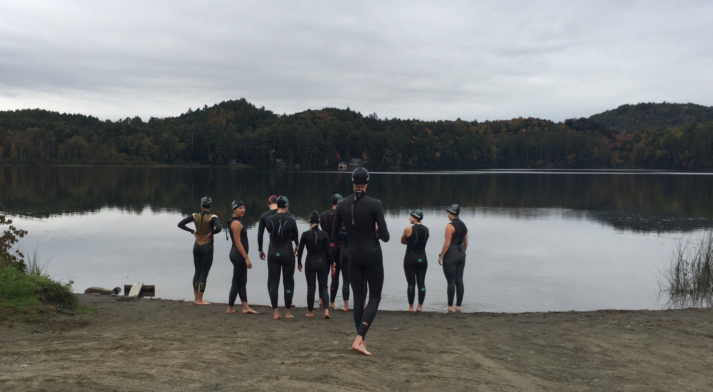 Post Pond Open Water Triathlon Swimming