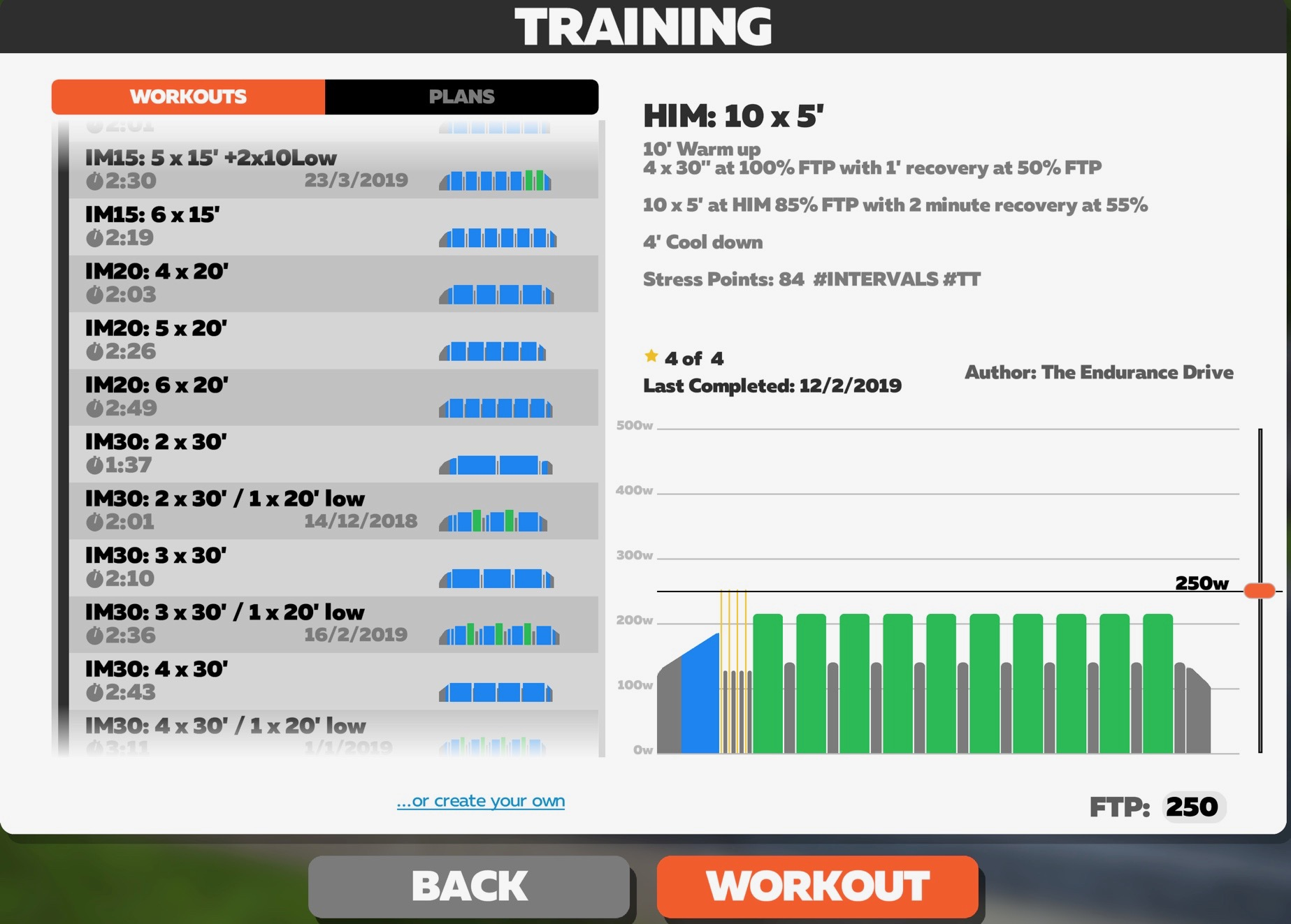 IRONMAN / Long Distance Triathlon Zwift Endurance Drive custom workouts
