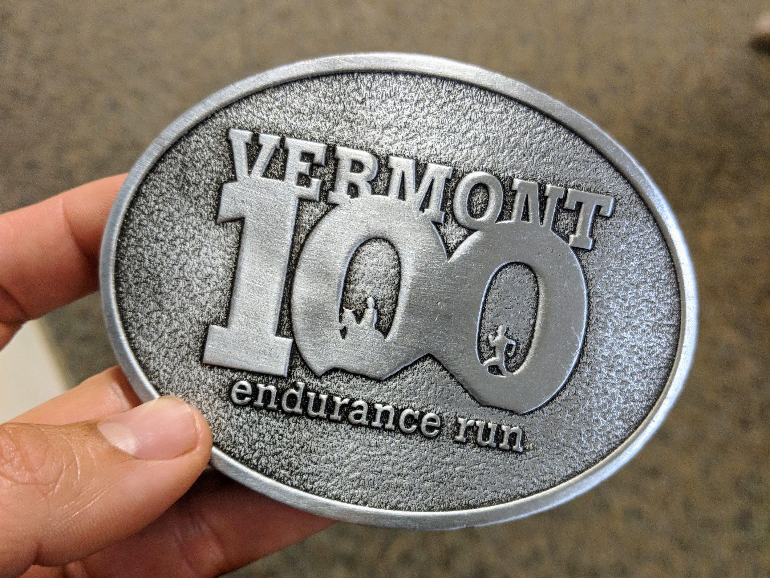Robert's Vermont 100 belt buckle