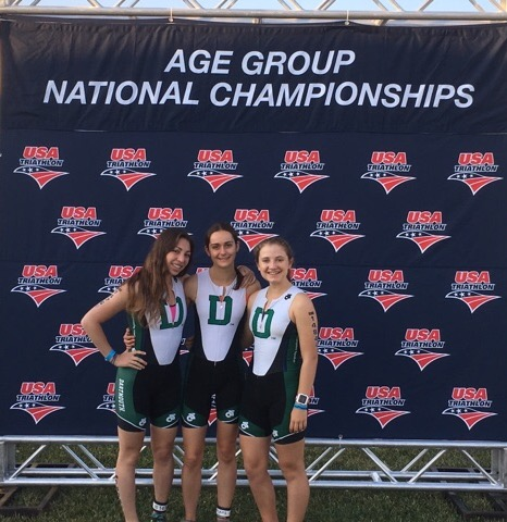 Emma Sklarin, Katie Clayton & Sonia Rowley at Age Group Nationals.