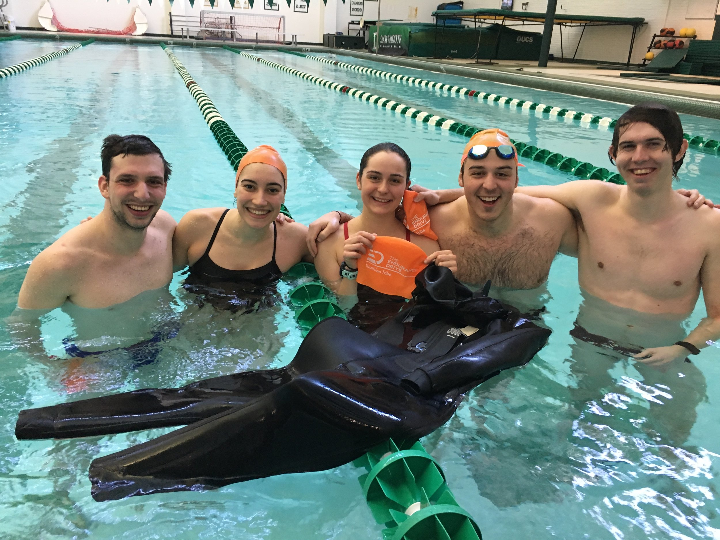 Endurance Drive triathletes swim pool training