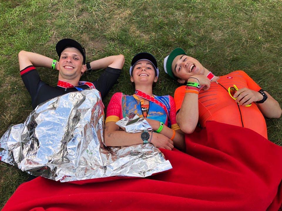 Chris Klein, Katie Clayton & Matthew Goff - post IRONMAN Lake Placid