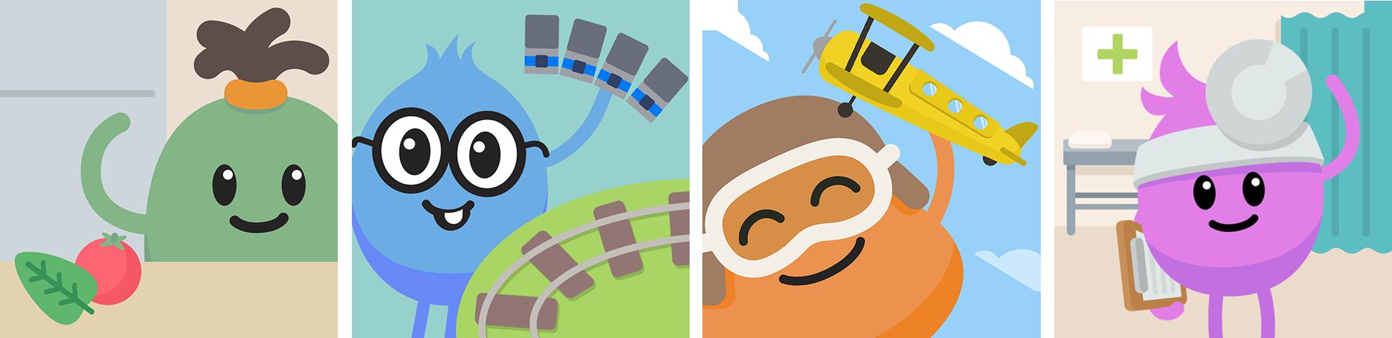 App Icons (left to right): Boffo's Breakfast, Loopy's Trainset, Madcap's Plane, Zany's Hospital