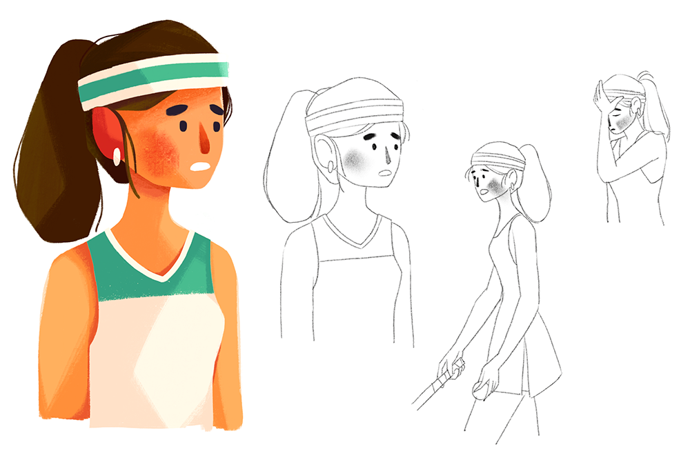 Worked with The Sequence Group to develop a female tennis player.