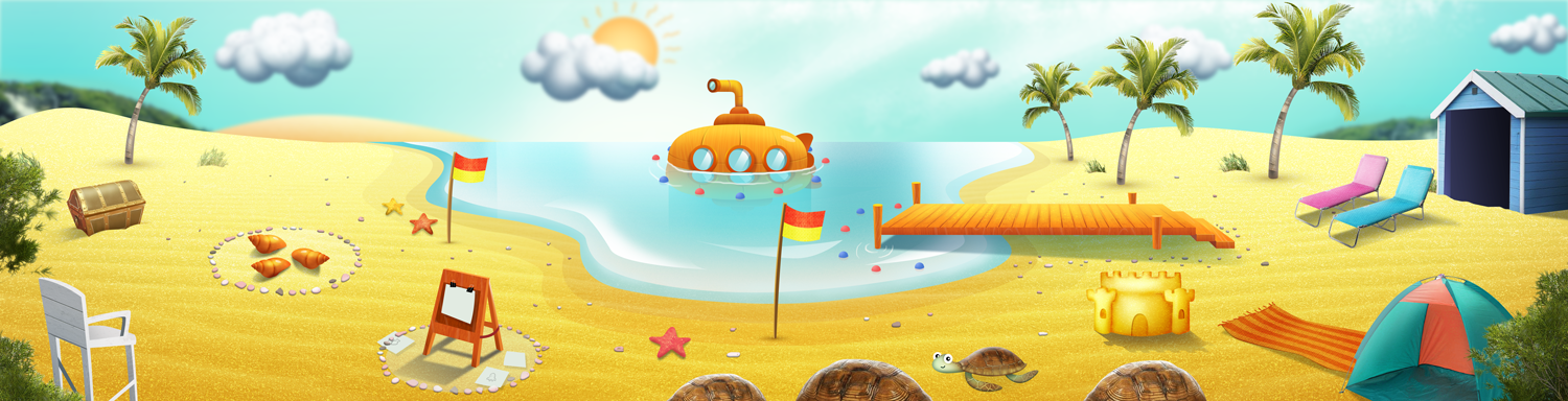 Playspace design for The Polyglots at the Beach.