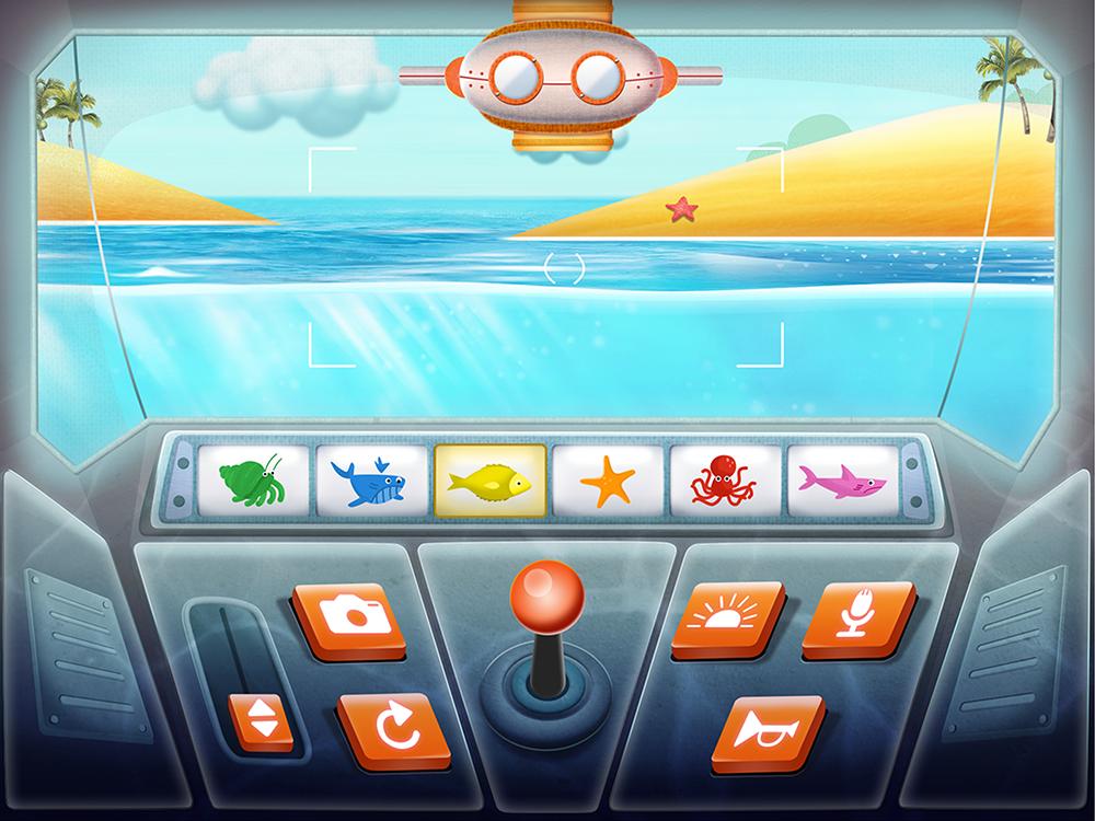 Submarine minigame.