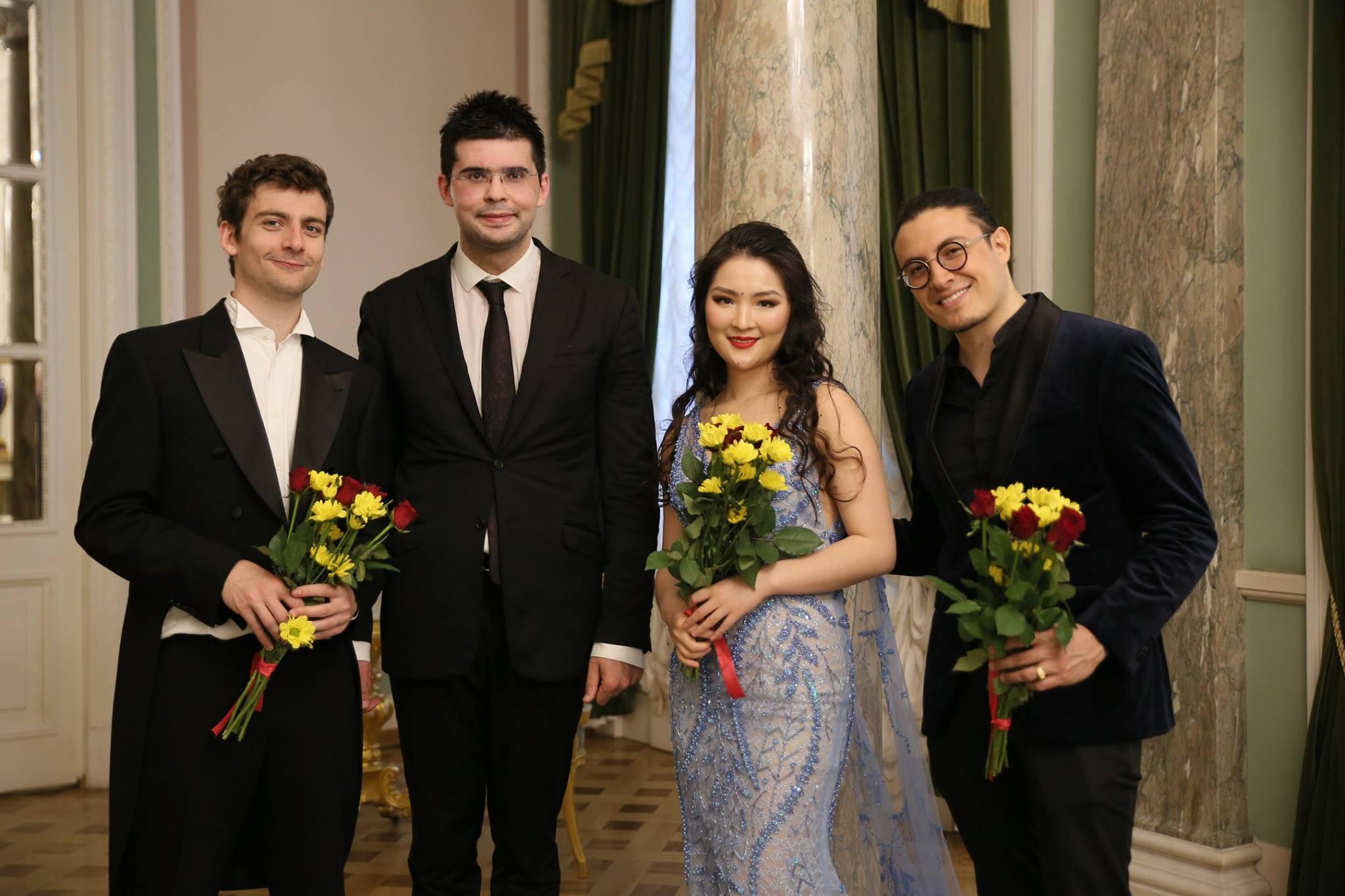 Alexander Ullman ,  Valentin Uryupin ,  Yajie Zhang ,  Santiago Cañón Valencia  Musical Olympus Artists 2018