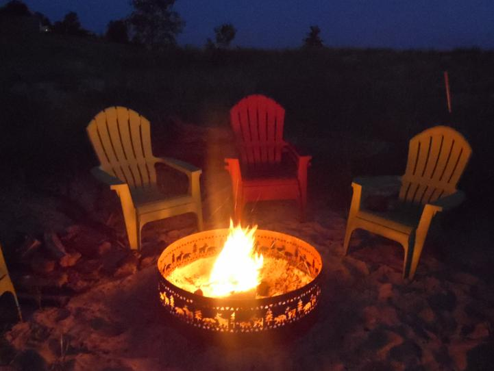 Relax by the firepit after a day of fun -