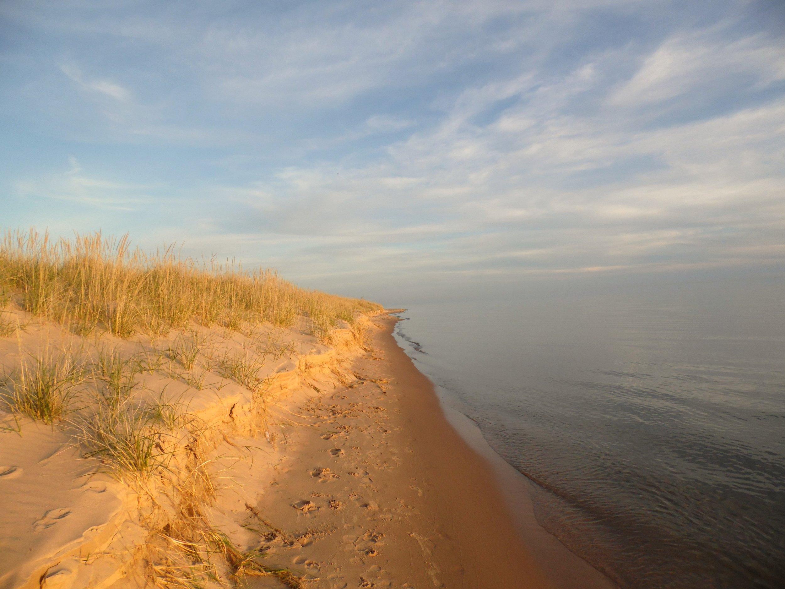 Miles of sandy beach await -