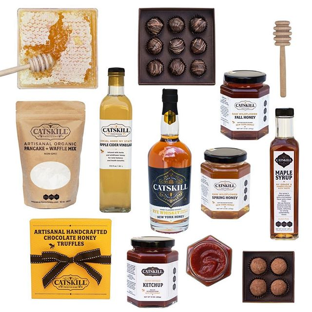 We're so excited to be a part of @fieldandsupply's Spring MRKT, an entire weekend dedicated to local makers! Join us in Kingston, NY to chat with Catskill Provisions founder, Claire Marin, and stock up on our entire line of handcrafted products, like our honey-infused chocolate truffles, apple cider vinegar, ketchup, organic pancake mix, maple syrup, and our highly acclaimed award-winning NY Honey Rye Whiskey! Learn more - link in bio. 🐝🍯🥃⠀ ⠀ ⠀ ⠀ #catskillprovisions #nyhoneyryewhiskey #allbuzznosting #honeywhiskey #rawhoney #madewithhoney #chocolatetruffles #chocolate #applecidervinegar #ketchup #organic #pancake #maplesyrup #madeinnewyork #catskills #catskillmountains #eatdrinklocal #fieldandsupply #localmakers #handcrafted #handmade #supportlocal #supportcraft