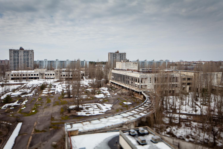 Utsikt over Pripyat