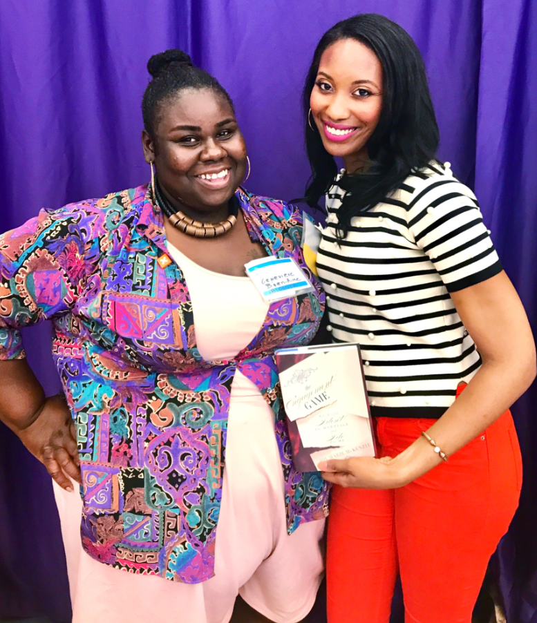 Myselfwith journalist and author, Joi- Marie McKenzie! I had just purchased her book,    The Engagement Game