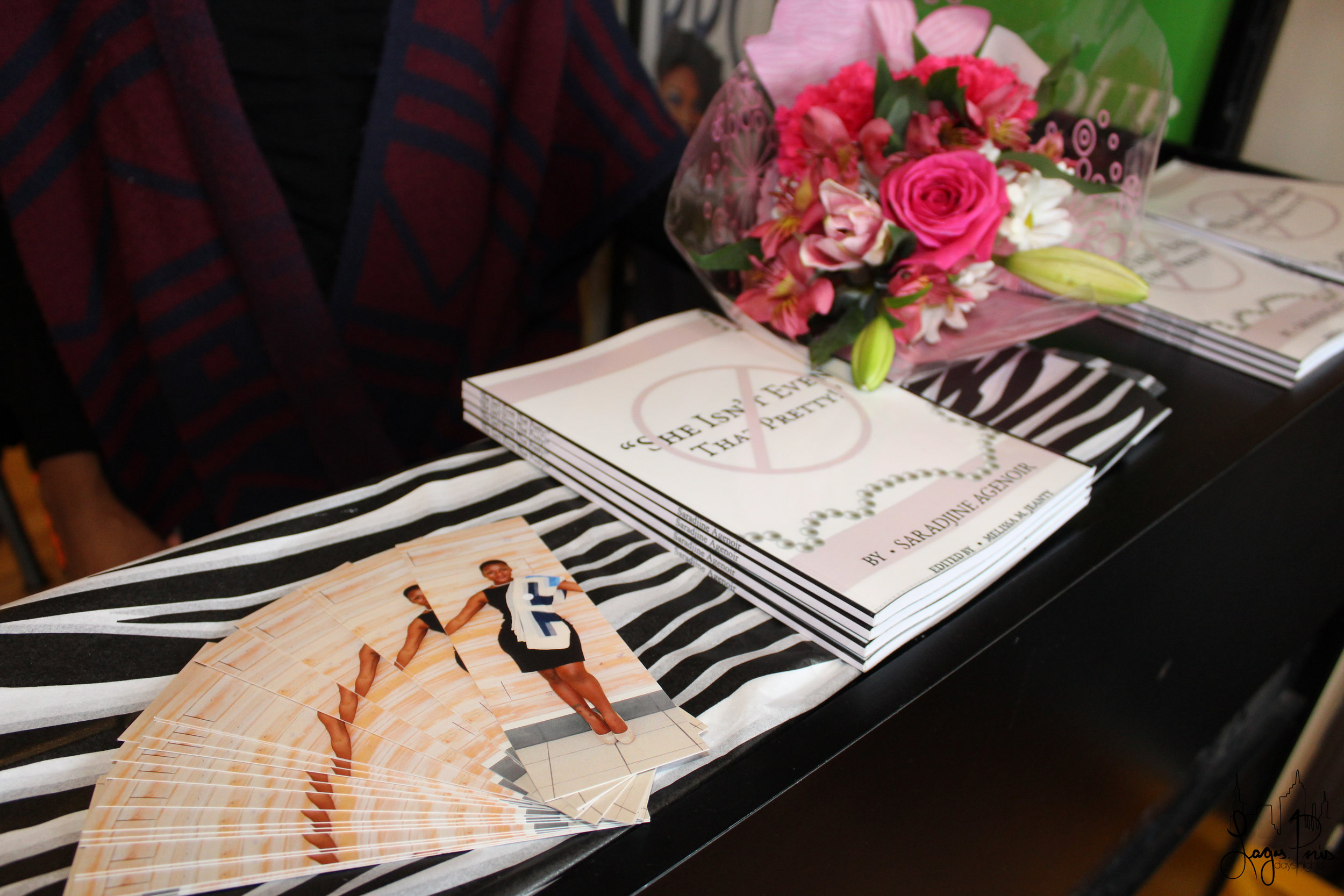 Guests received one of Agenoir's signature bookmarks.