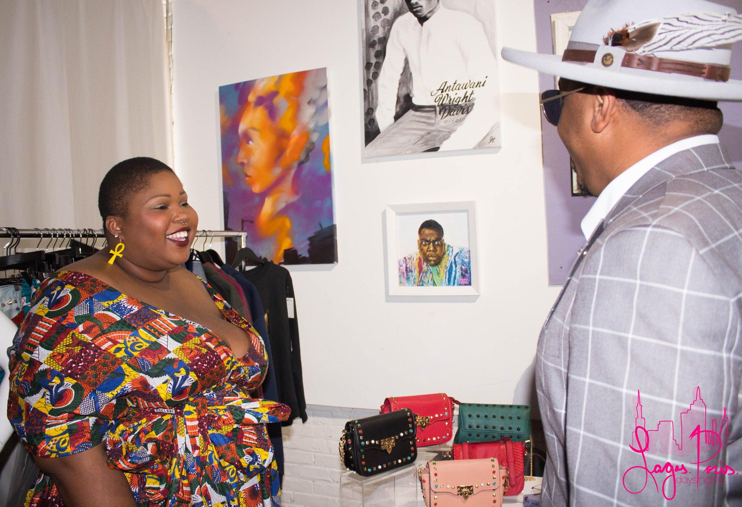 Model and I Love Fly Girl Couture rep, Rebecca Ndawana meets J. Bolin.