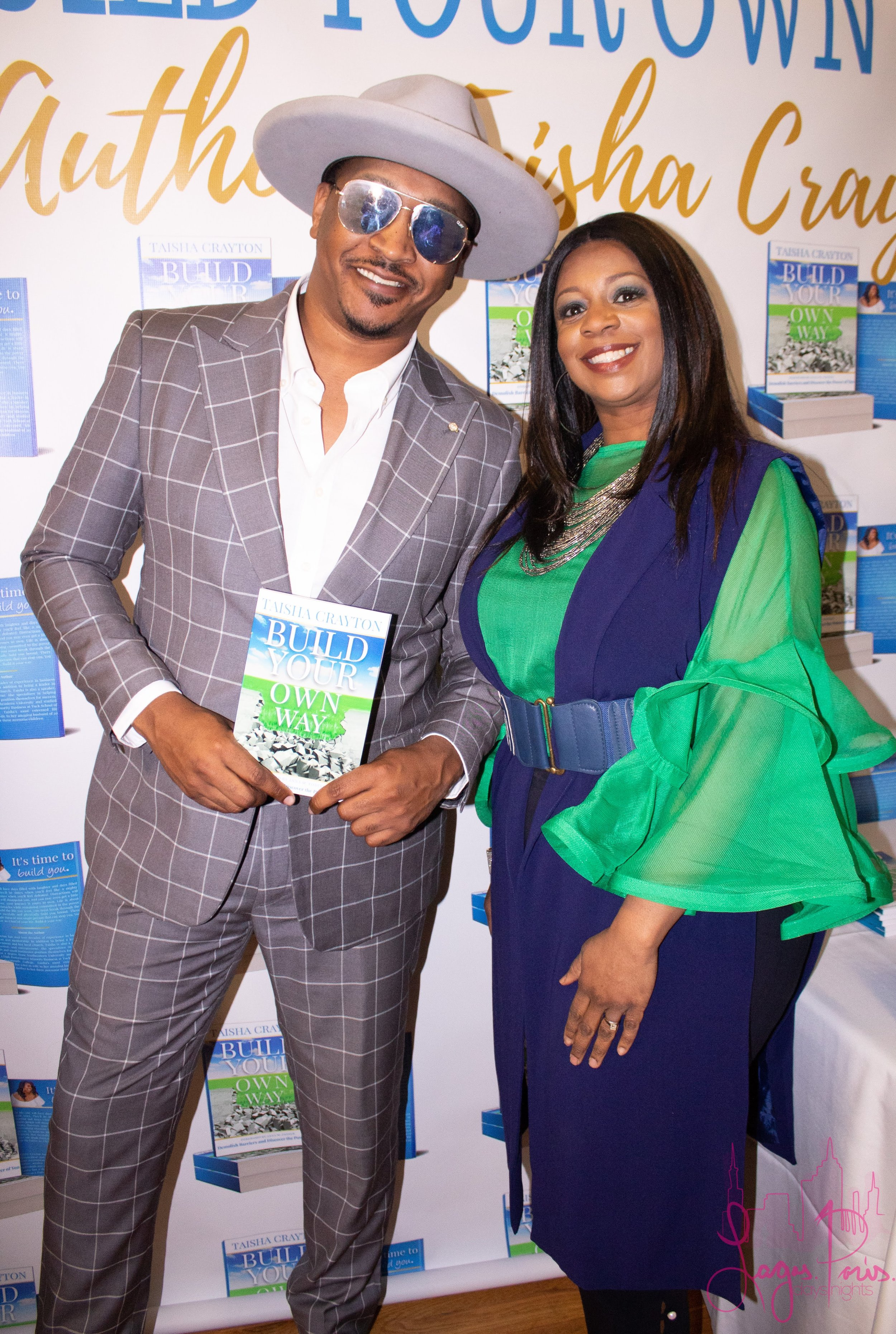 J. Bolin with author, Taisha Crayton.