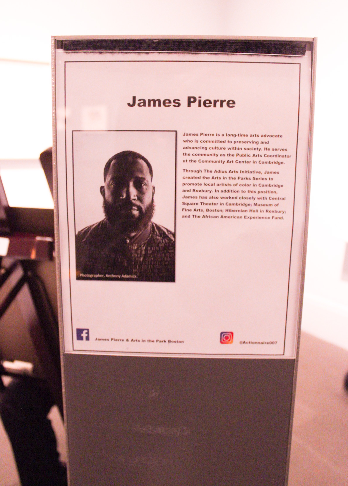 A profile on James Pierre, one of the featured artists.