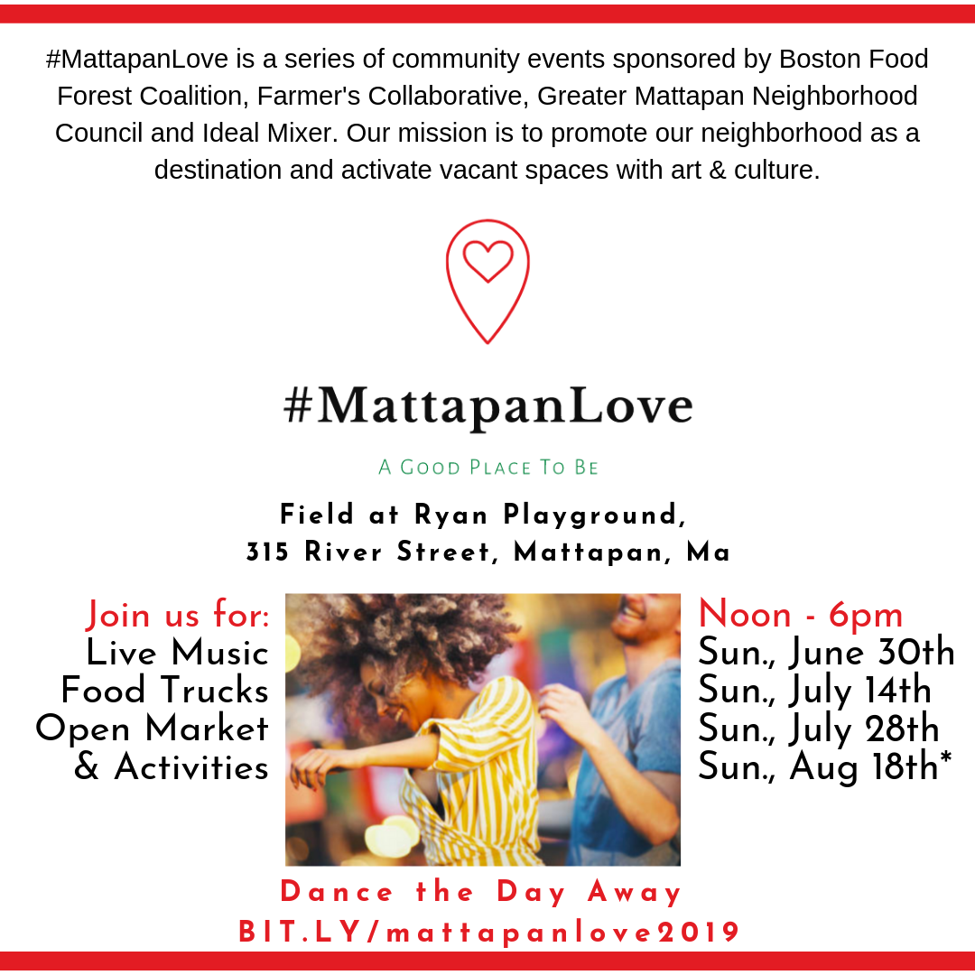 Check this FREE upcoming event by Mattapan Loves! Register by clicking the photo above.