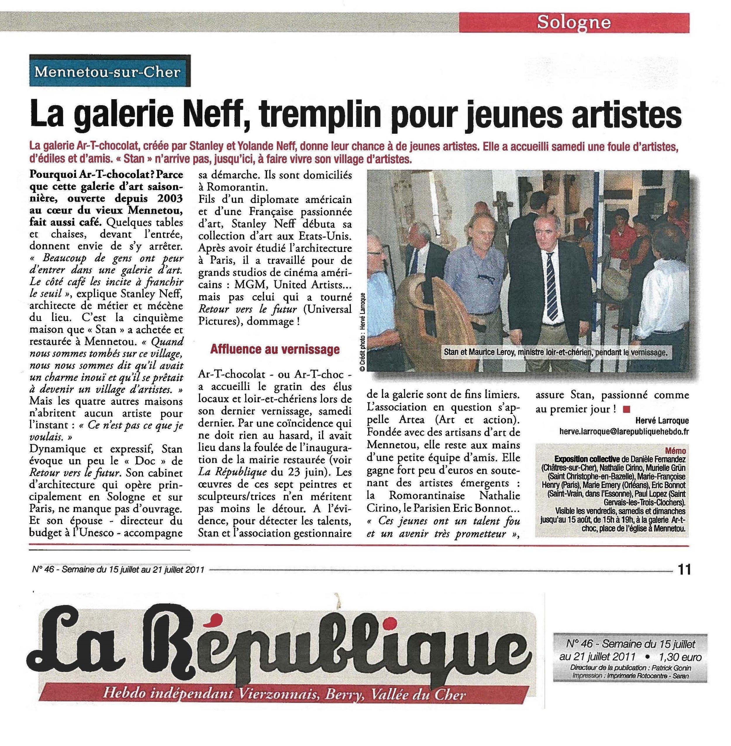 2011-07-15 La République p11 web ARTkos.jpg
