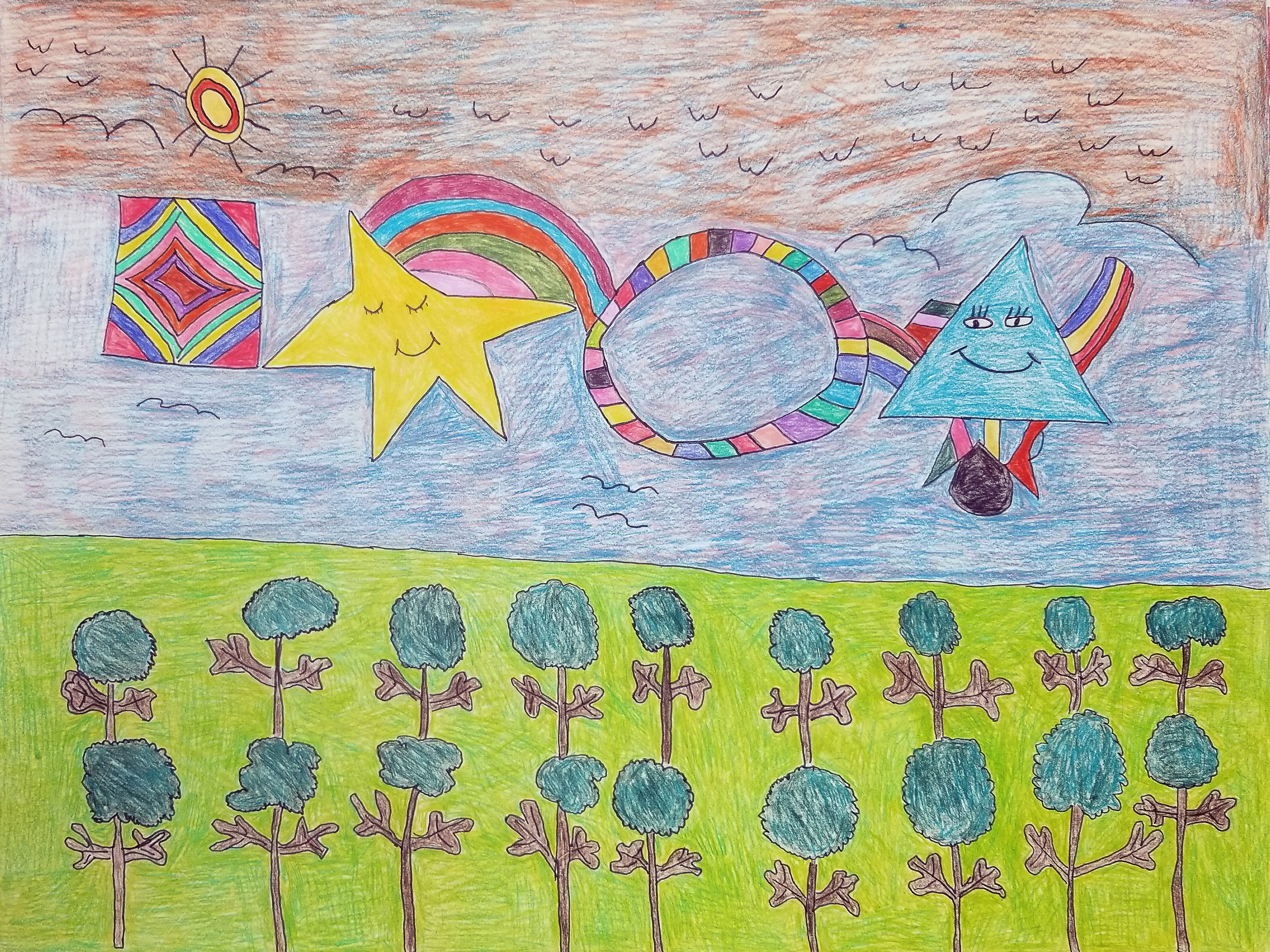 I Saw it on TV (A Field) - colored pencil - 2018.jpg