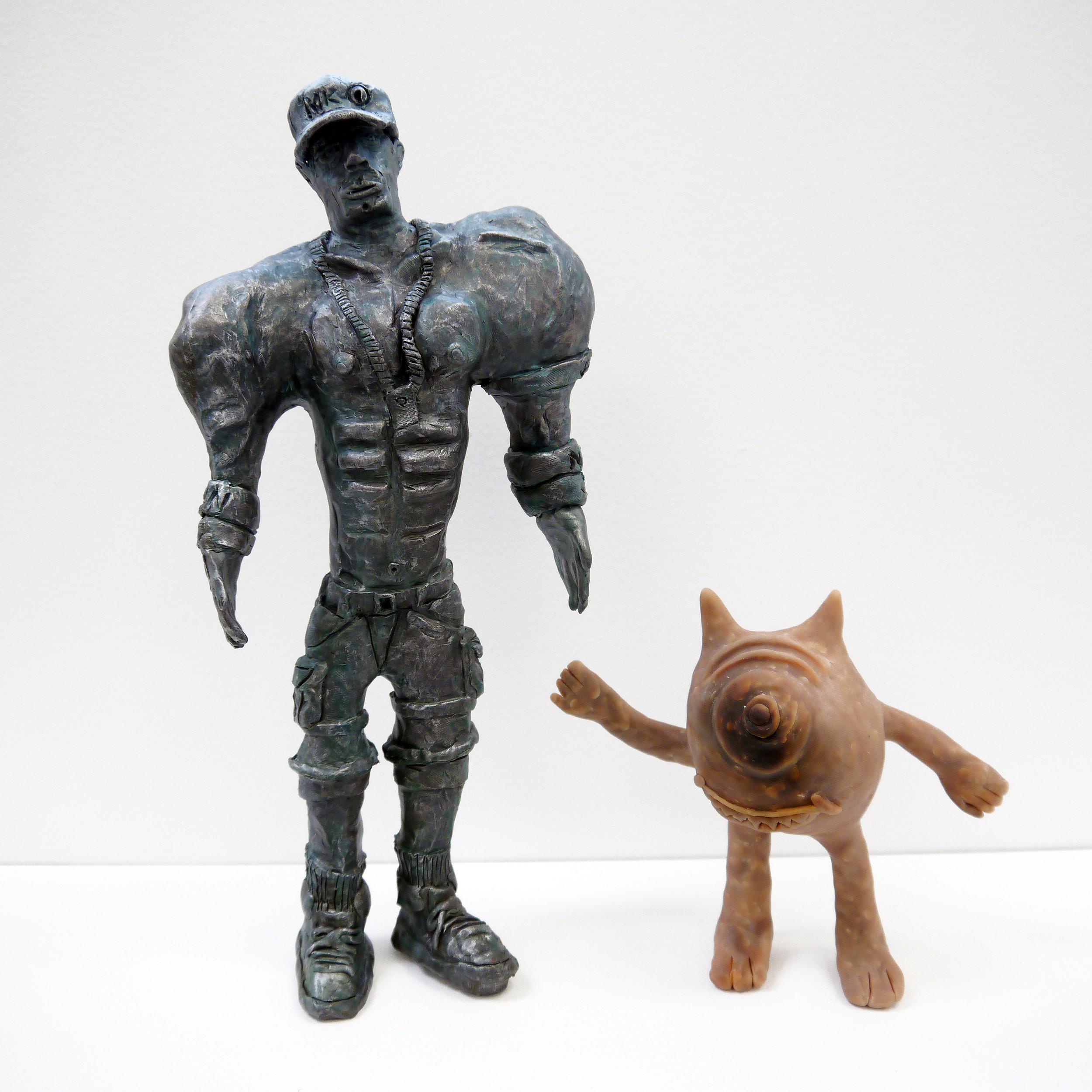 (SOLD) John Cena - polymer clay and acrylic - 2017.jpg